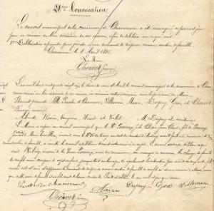 Compte-rendu du conseil municipal de Chaucenne de 1886
