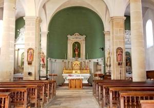interieur de l'église de Chaucenne